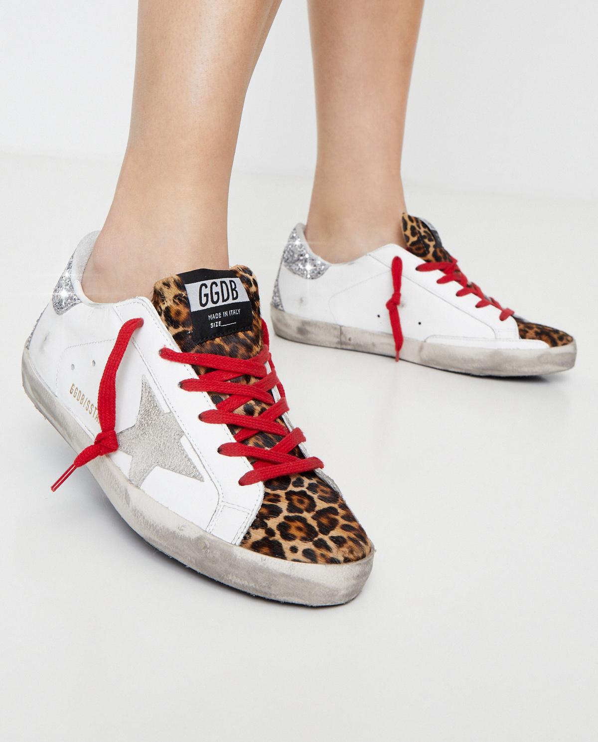 Sneakersy Superstar z brokatową piętą Golden Goose GWF00102 80244