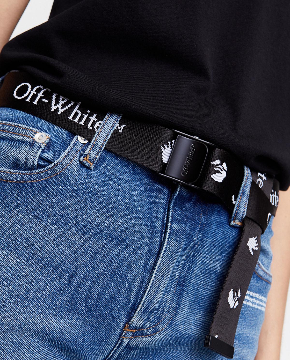 Czarny pasek z klamrą Off-white OWRB035F20FAB0011001