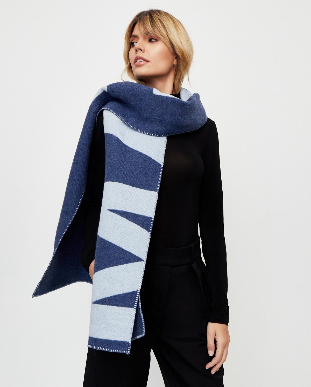 damski niebieski szalik Loli Isabel Marant EC0185-20A022A 30BU