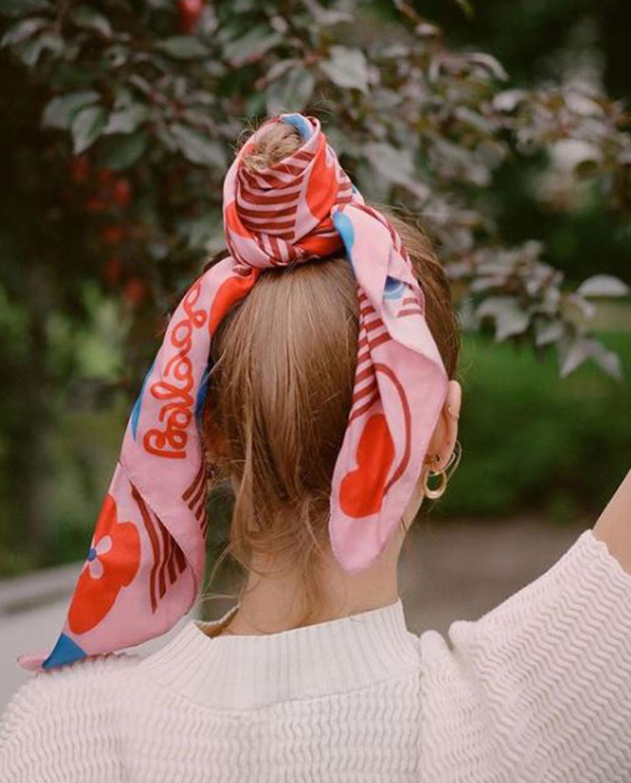 Różowa apaszka MESHI NO.1 Balagan MESHI NO.1 PINK