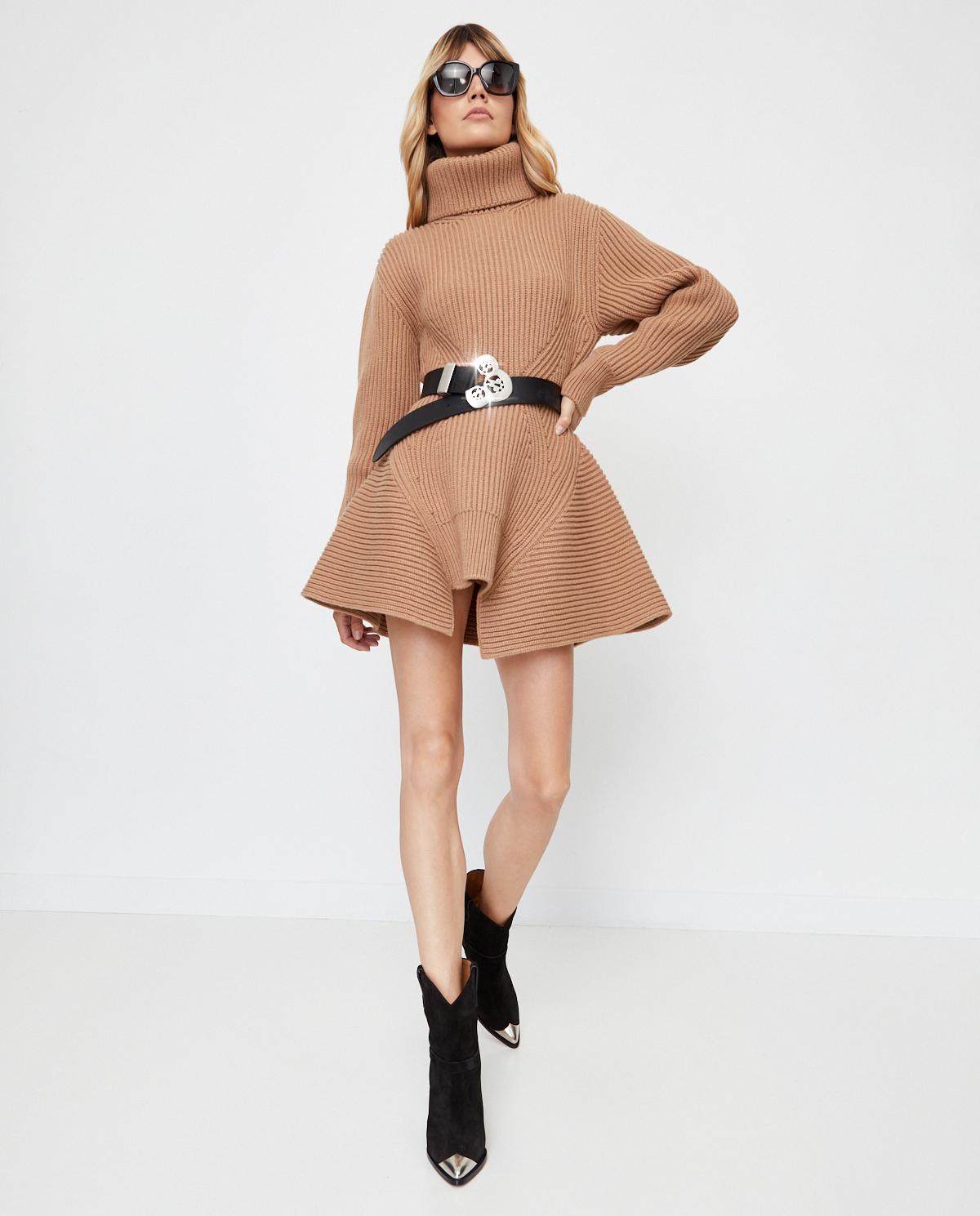 Wełniana sukienka z golfem Alexander McQueen 633688 Q1AQ1 9047