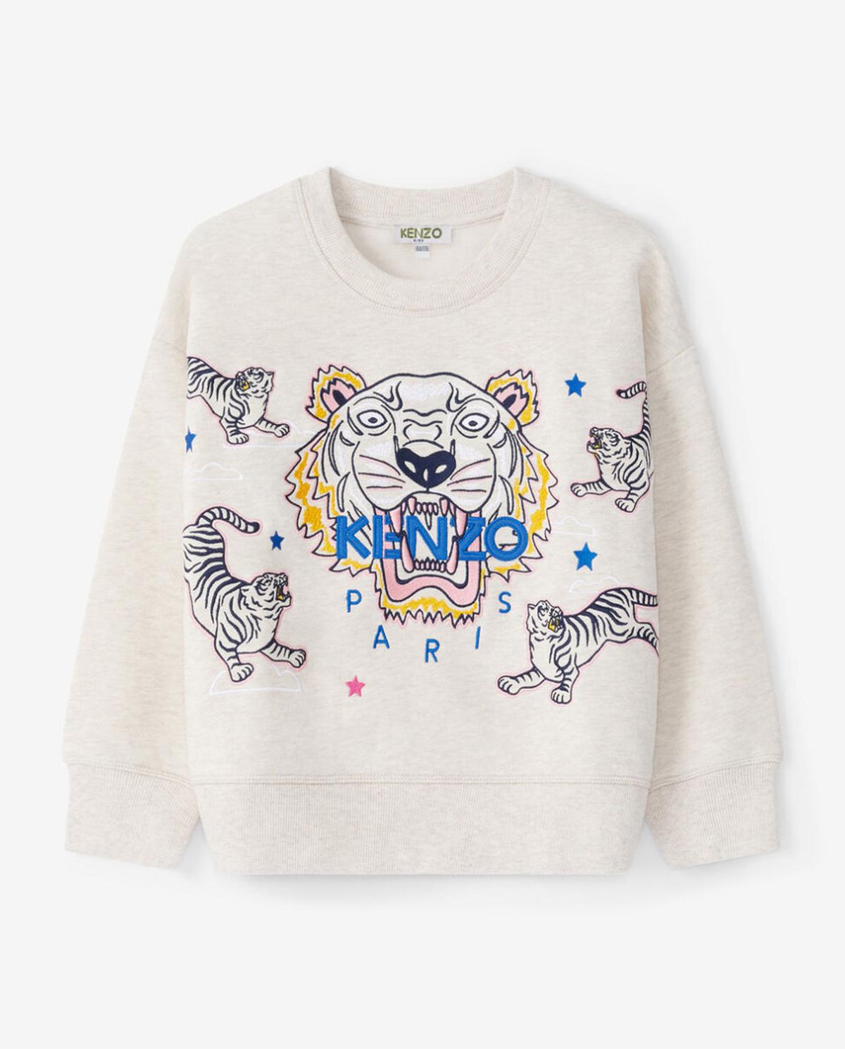 Beżowa bluza z tygrysem 2-14 lat Kenzo Kids KR15118 17