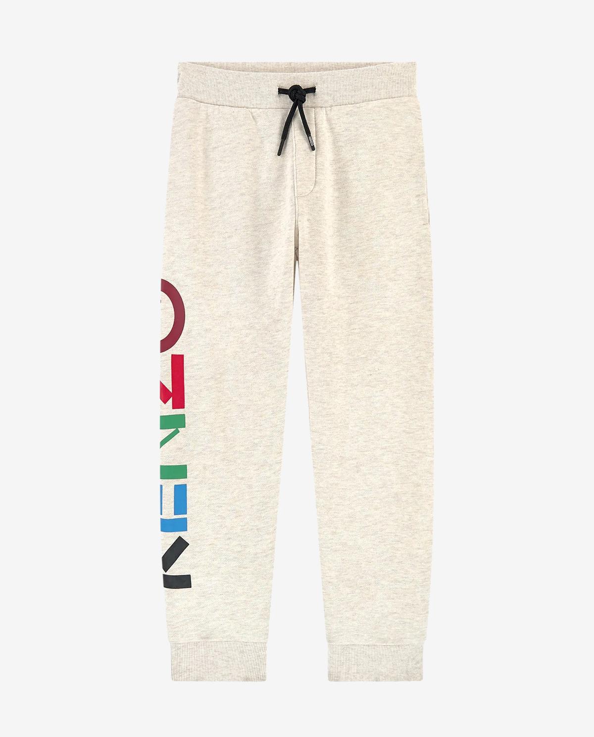 Beżowe spodnie dresowe z logo 2-12 lat Kenzo Kids KR23608 17