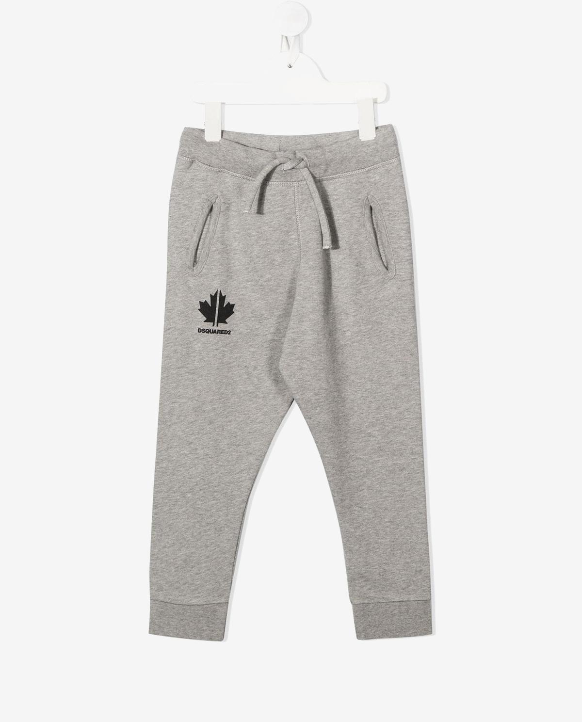 Szare spodnie z bawełny 4-16 lat Dsquared2 Kids DQ048G D00J8 DQ911