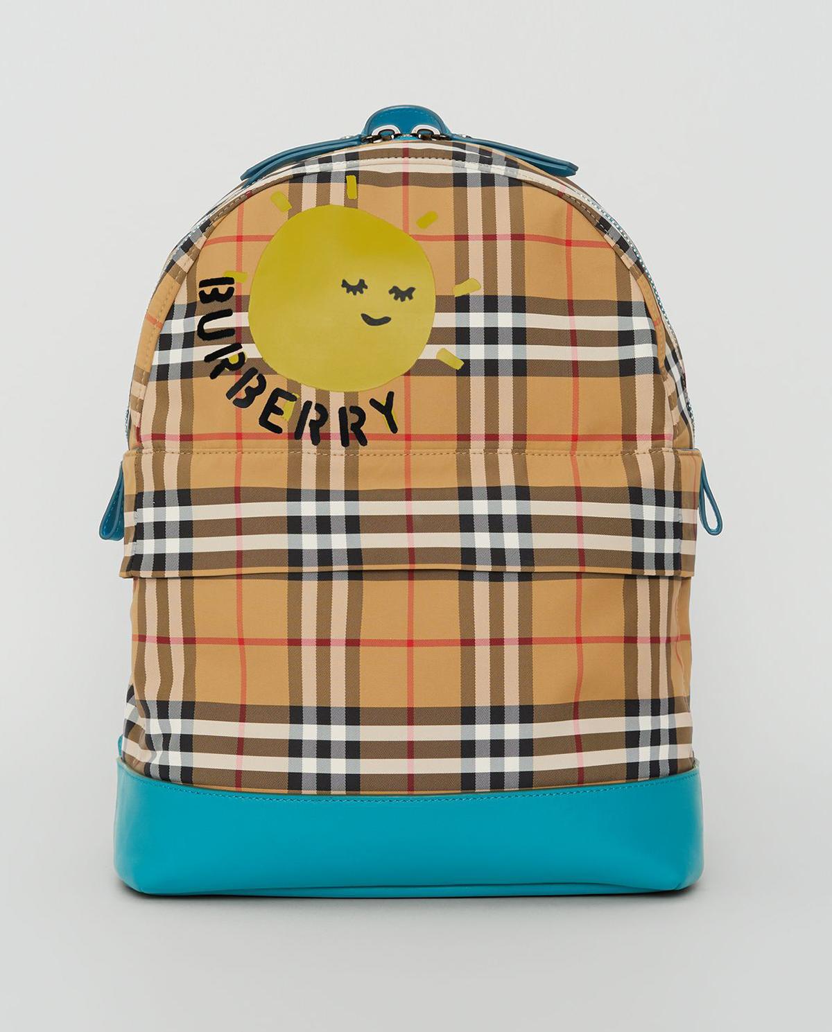 Plecak w kratę z logo Burberry Children 8007005 A5373