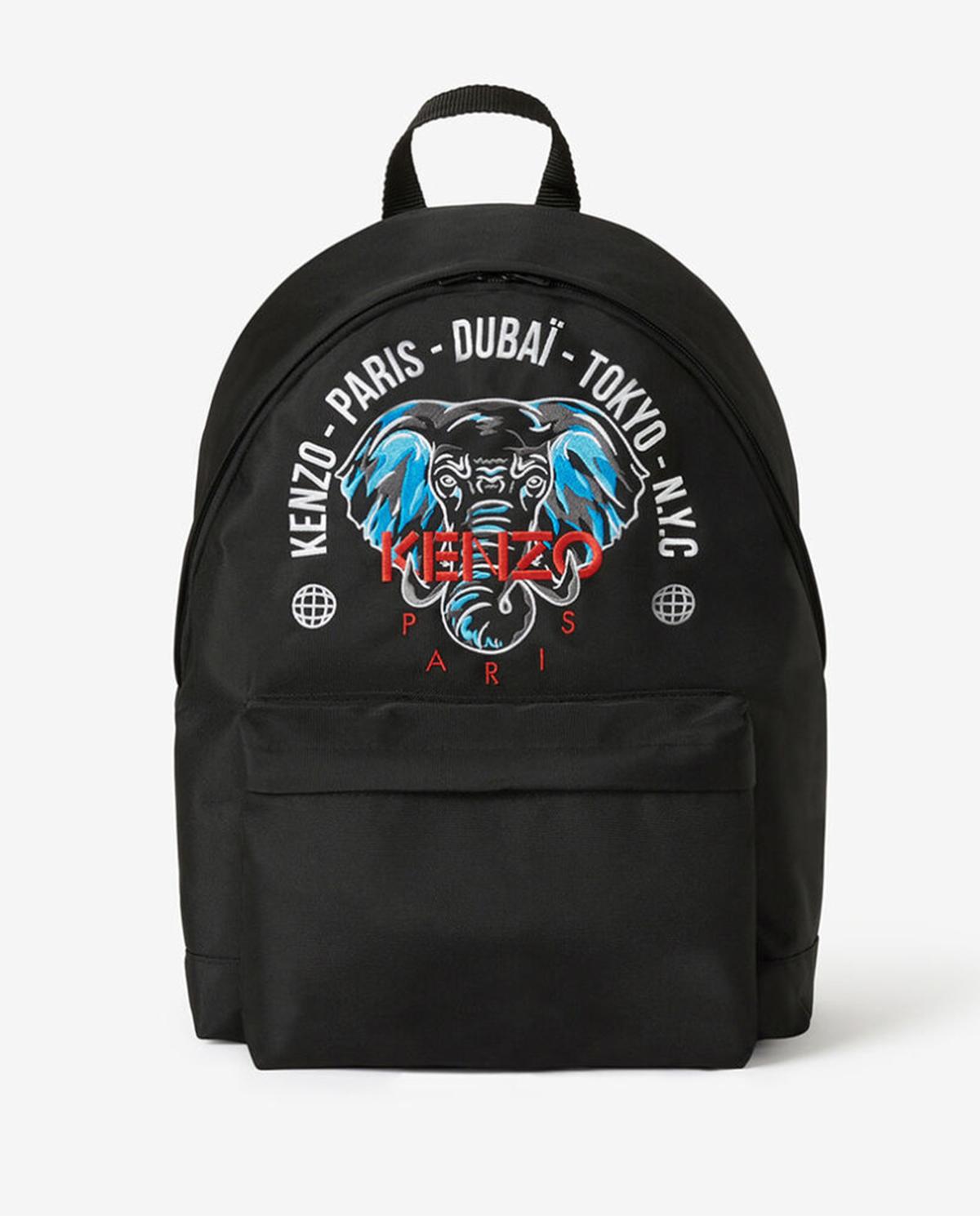 czarny plecak ze słoniem Tokyo Kenzo Kids KR95518 02
