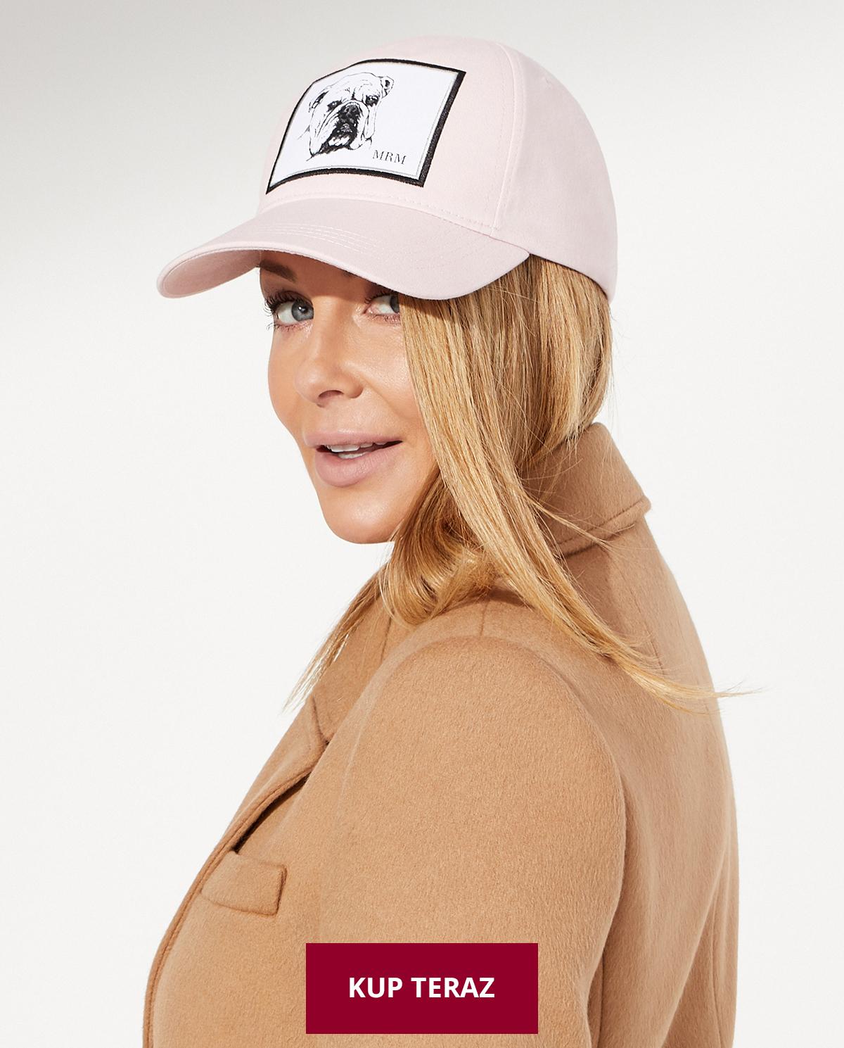 Różowa czapka z daszkiem Georgio Małgorzata Rozenek-Majdan x Moliera 2