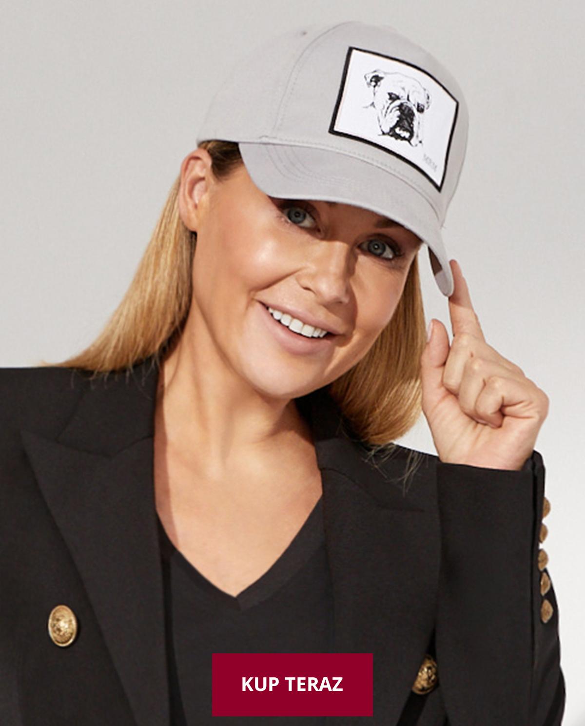 Szara czapka z daszkiem Georgio Małgorzata Rozenek-Majdan x Moliera 2
