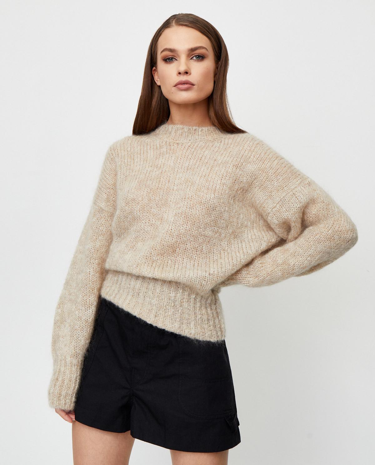 Beżowy sweter z moheru Estelle Isabel Marant PU1386-20A041I 90BE