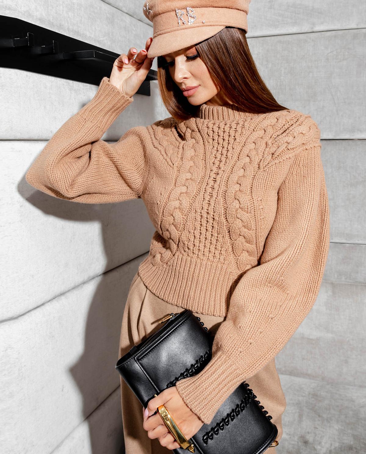 Pleciony sweter z wełny Alexander McQueen 633678 Q1AQC 9047