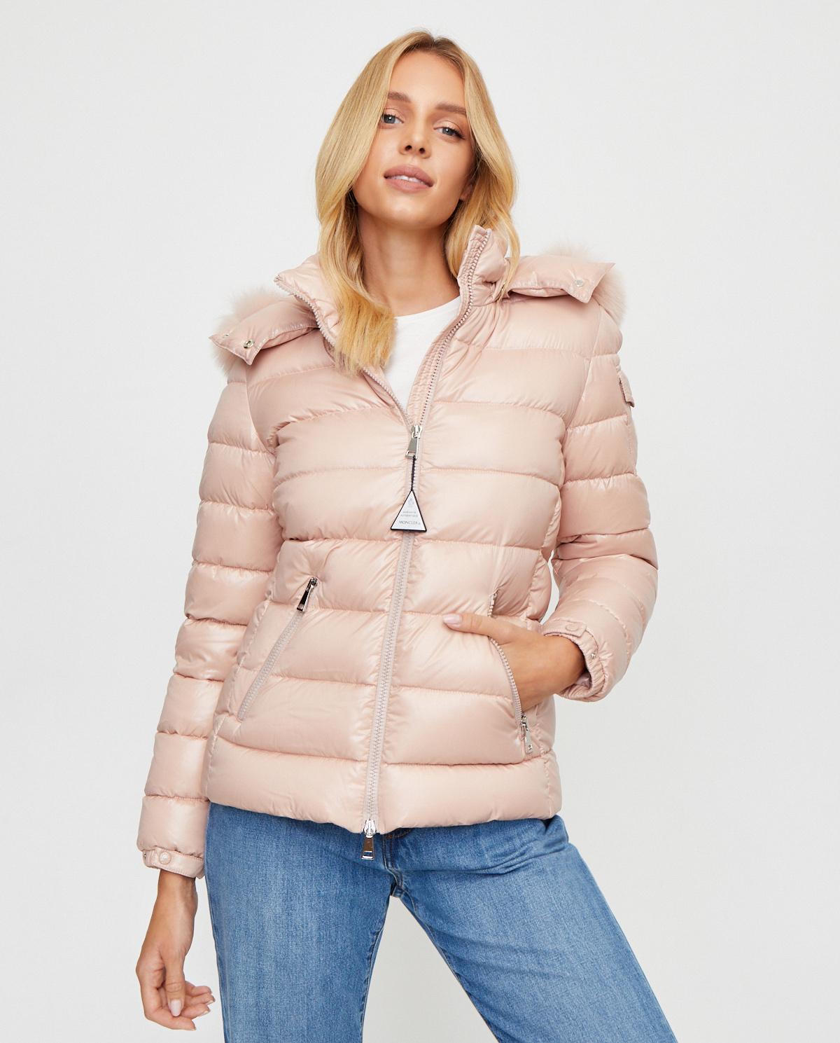 Różowa kurtka Badyfur Moncler F2-093-1A540-02-C0064 512