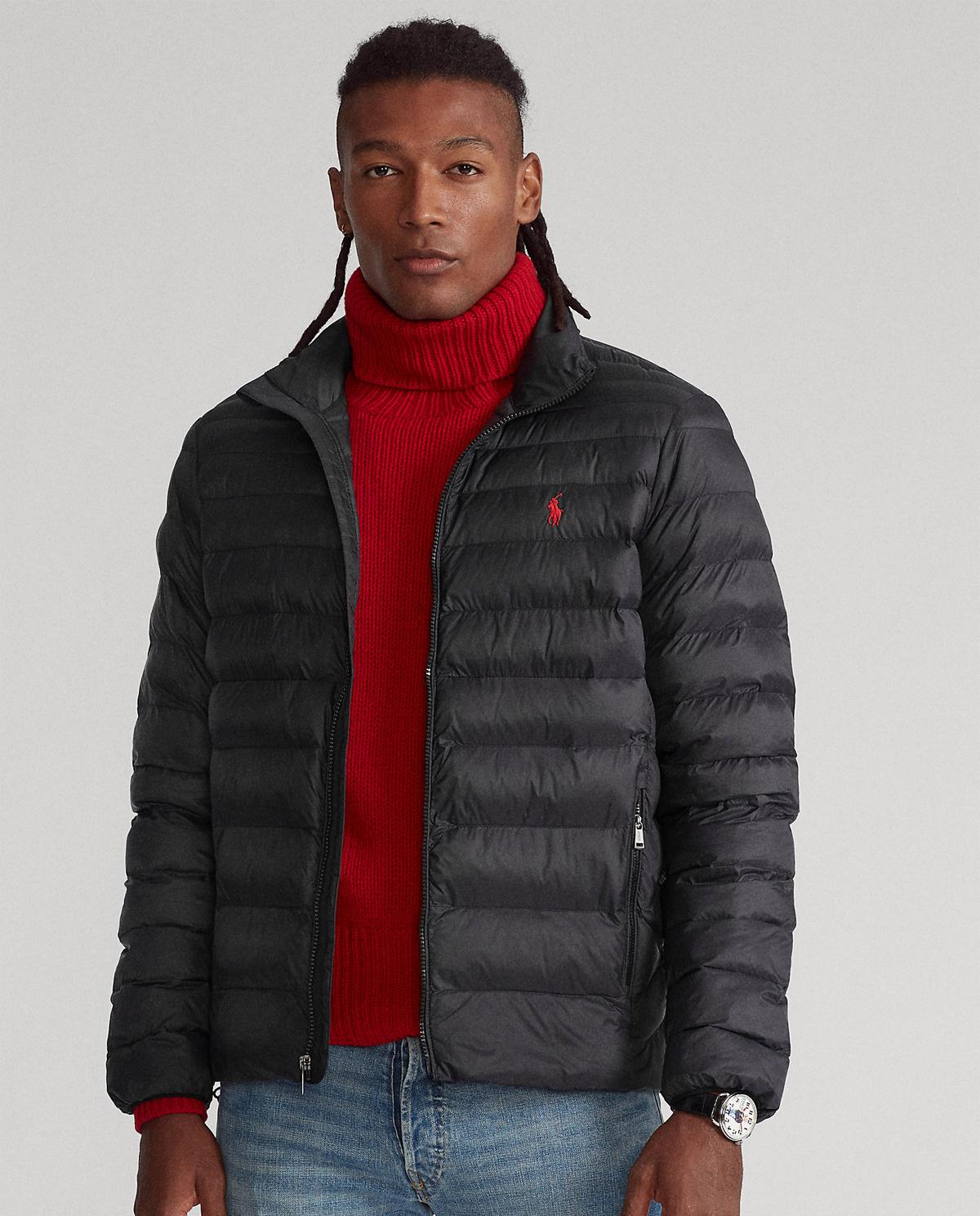 Czarna kurtka pikowana Polo Ralph Lauren 710810897012
