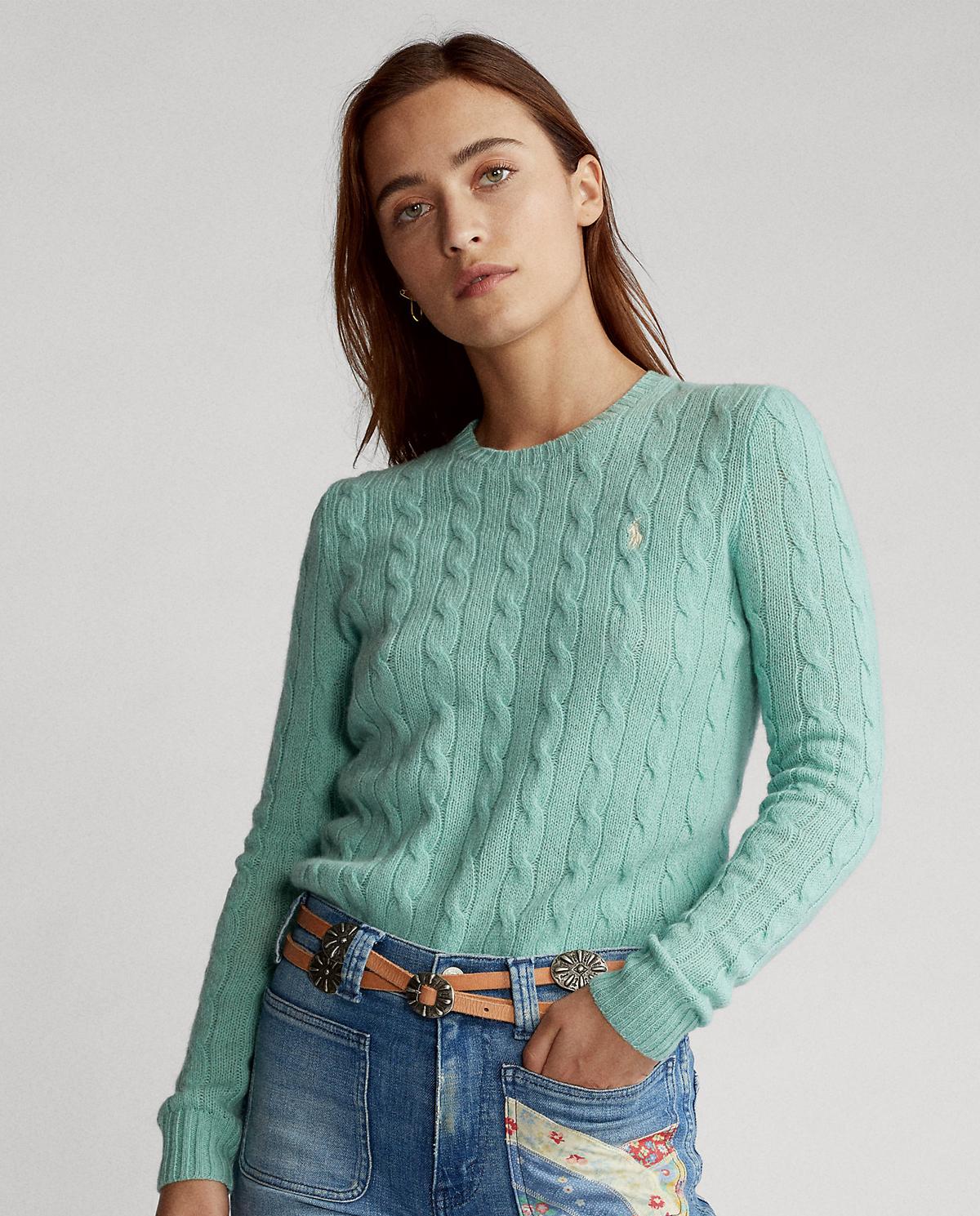 Wełniany sweter z domieszką kaszmiru Polo Ralph Lauren 211525764069