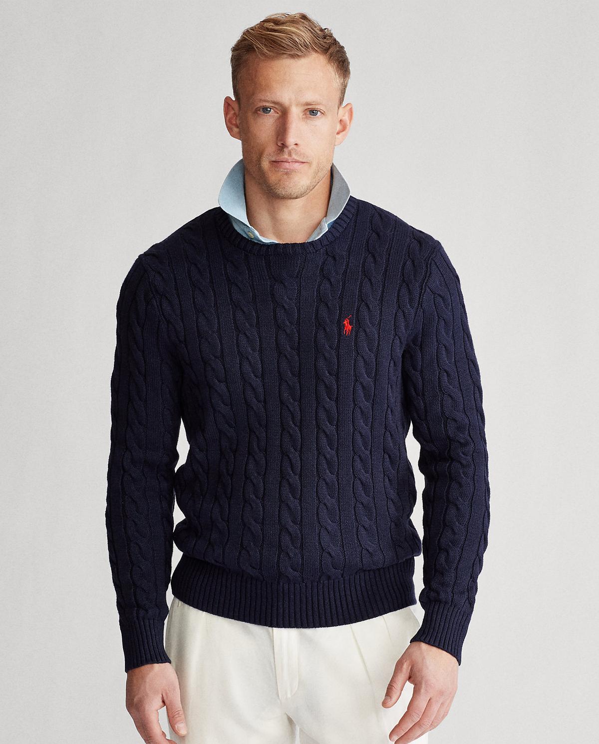 Granatowy sweter z bawełny Polo Ralph Lauren 710775885001