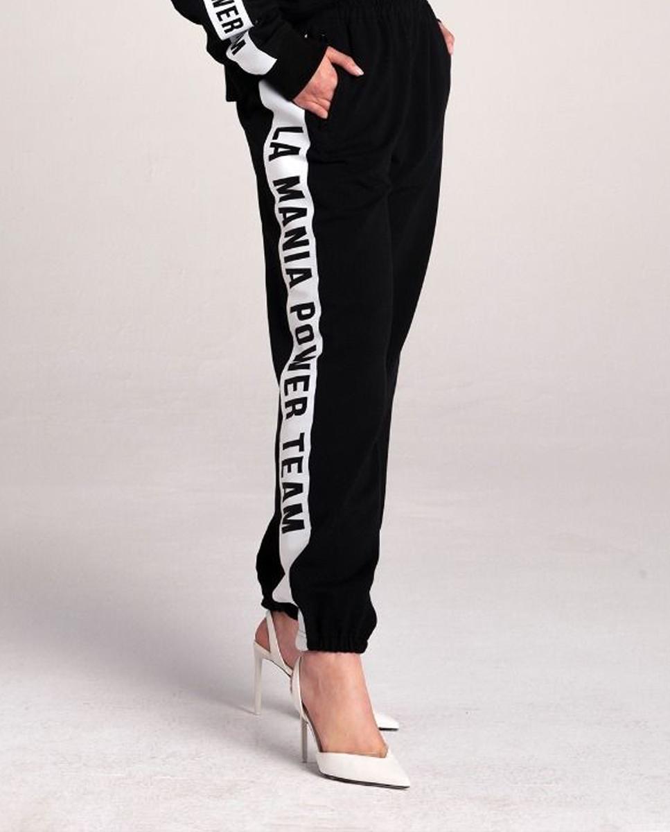 Czarne spodnie dresowe La Mania TORREY BLACK