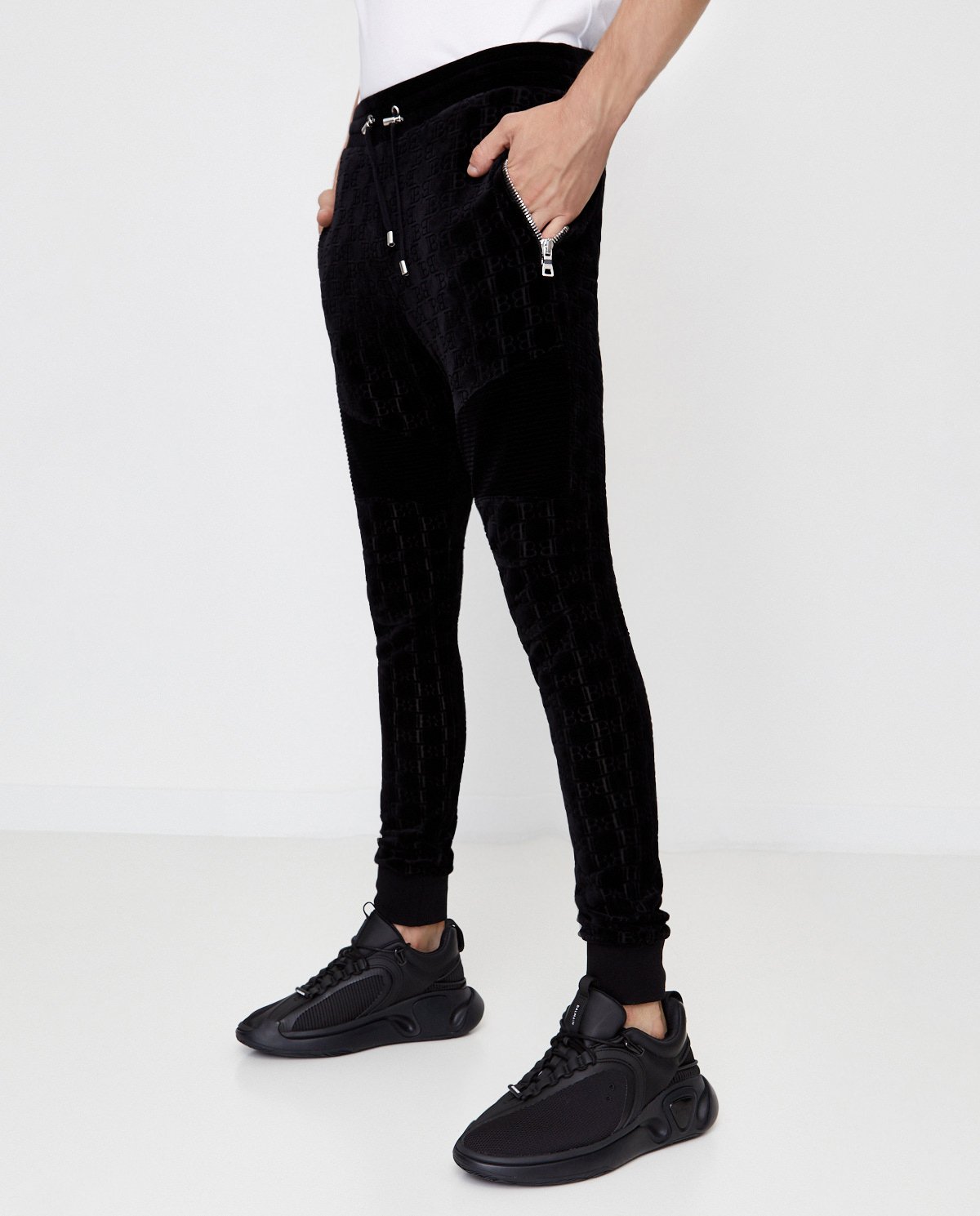 Spodnie dresowe z monogramem Balmain UH15463I366 0PA