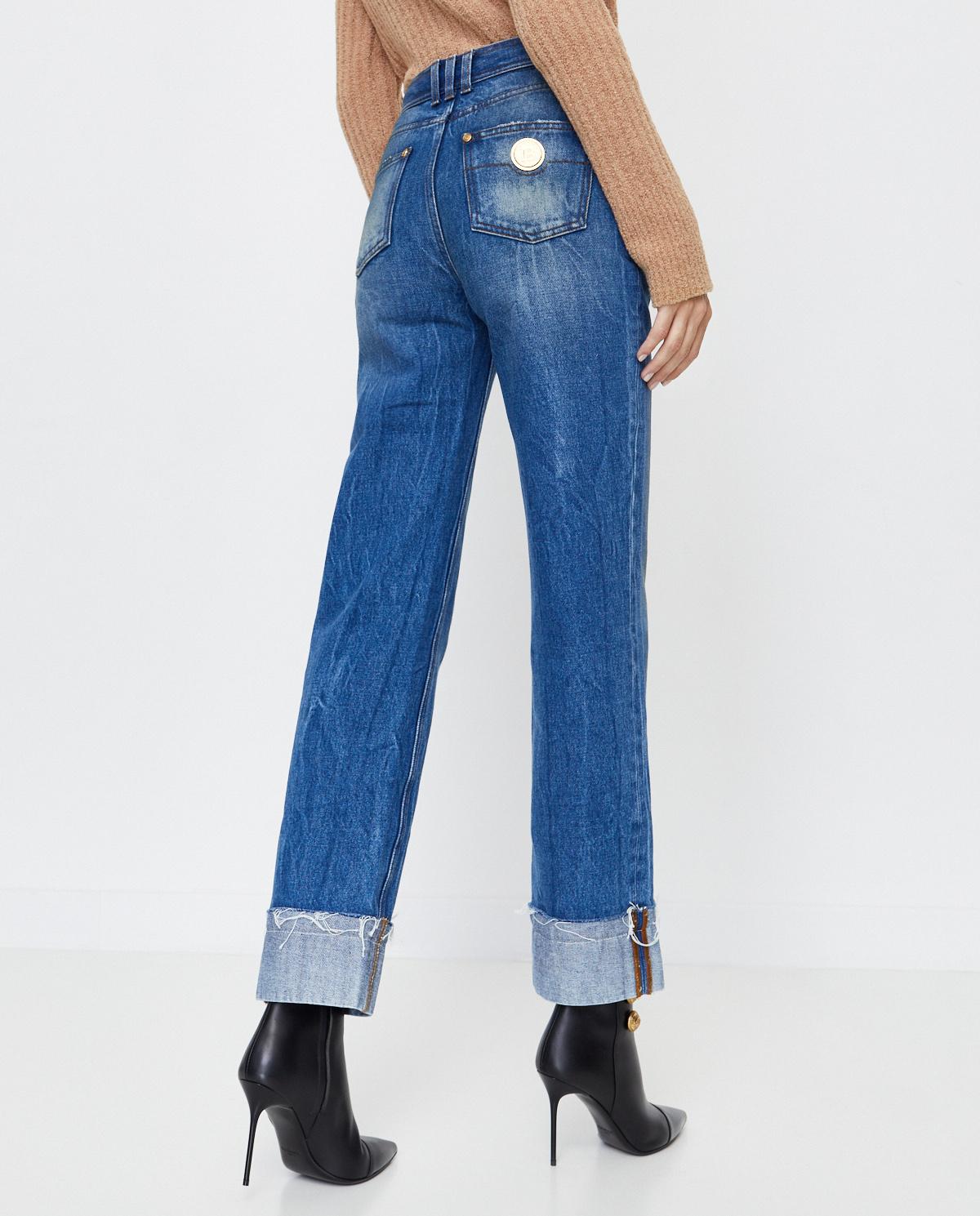 Jeansy z prostą nogawką Balmain UF15570D059 6FF