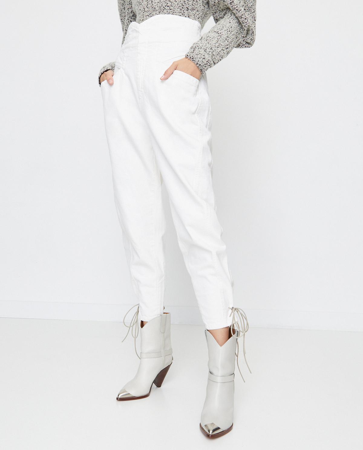 Białe jeansy Nubaia Isabel Marant PA1758-20A022I 20WH