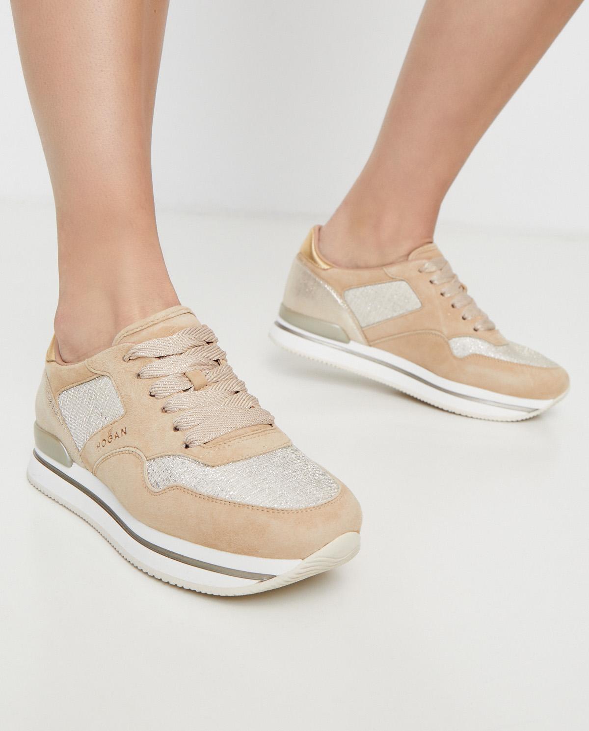 Beżowe sneakersy H222 Hogan HXW2220N62DMZUST03