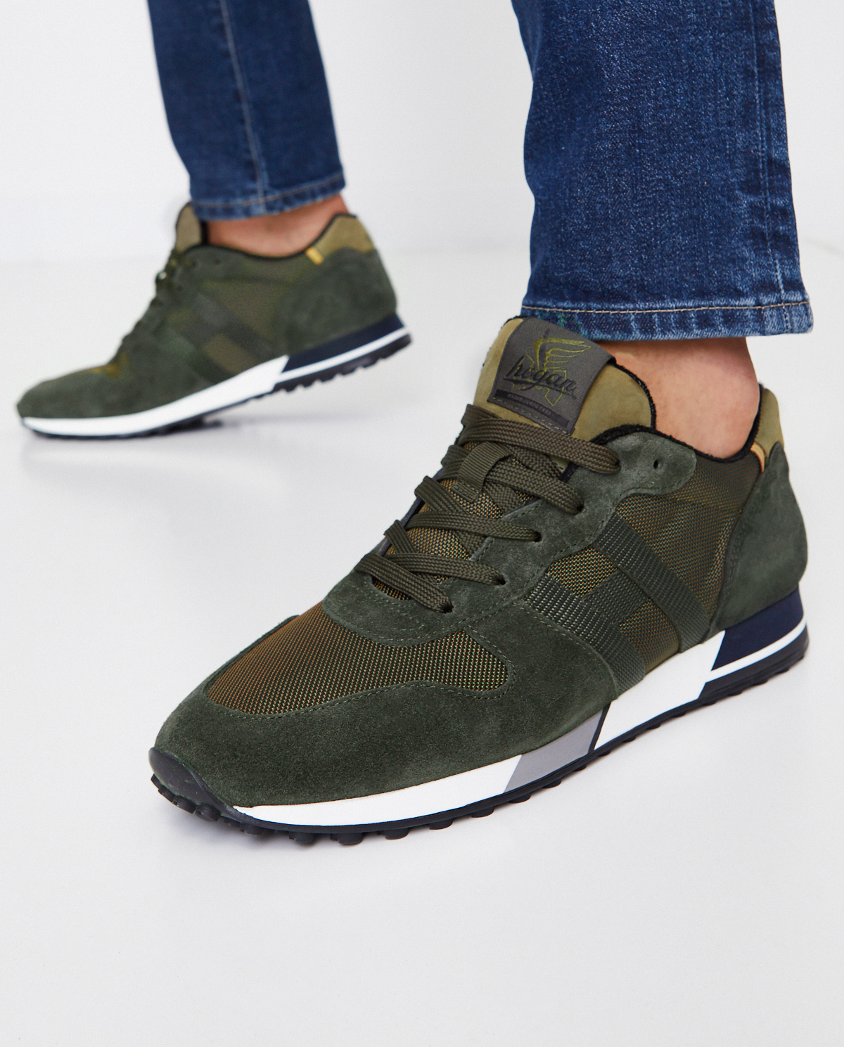 Zielone sneakersy H383 Hogan HXM3830AN51OD8J82X