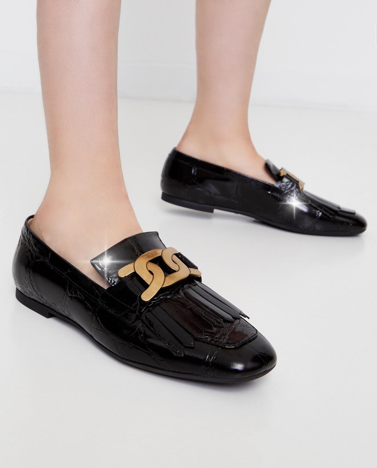 Czarne loafery z frędzlami Tod's XXW20C0DD10XLXB999