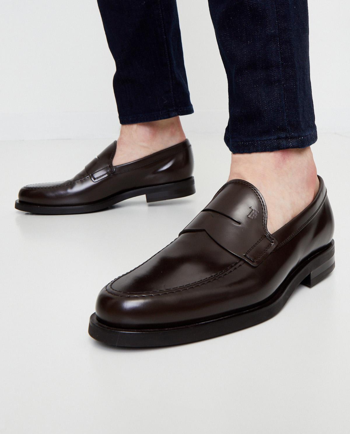 Brązowe loafery ze skóry Tod's XXM0ZF0Q920LYGS810