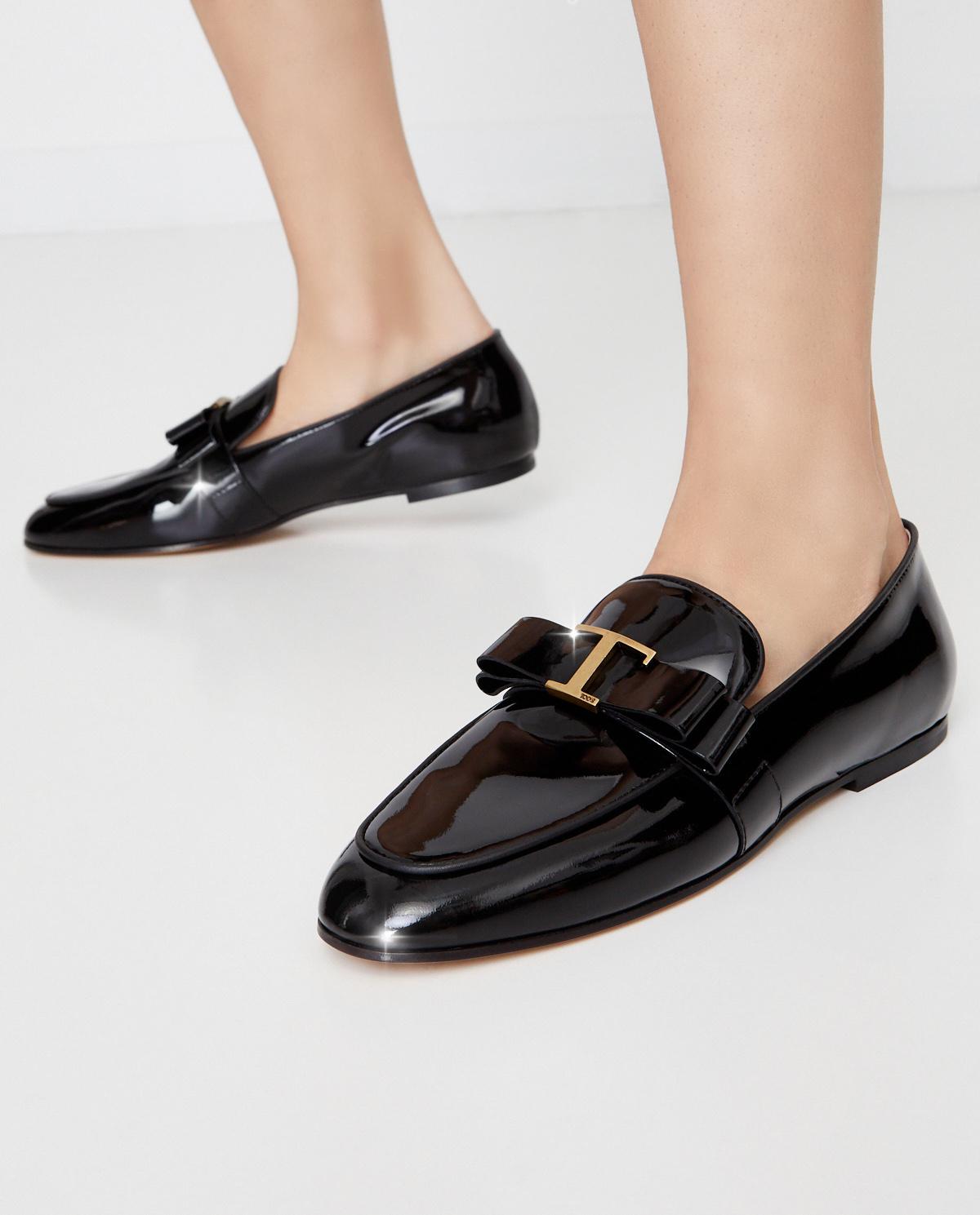 Czarne loafery ze skóry Tod's XXW79A0DK70CWWB999