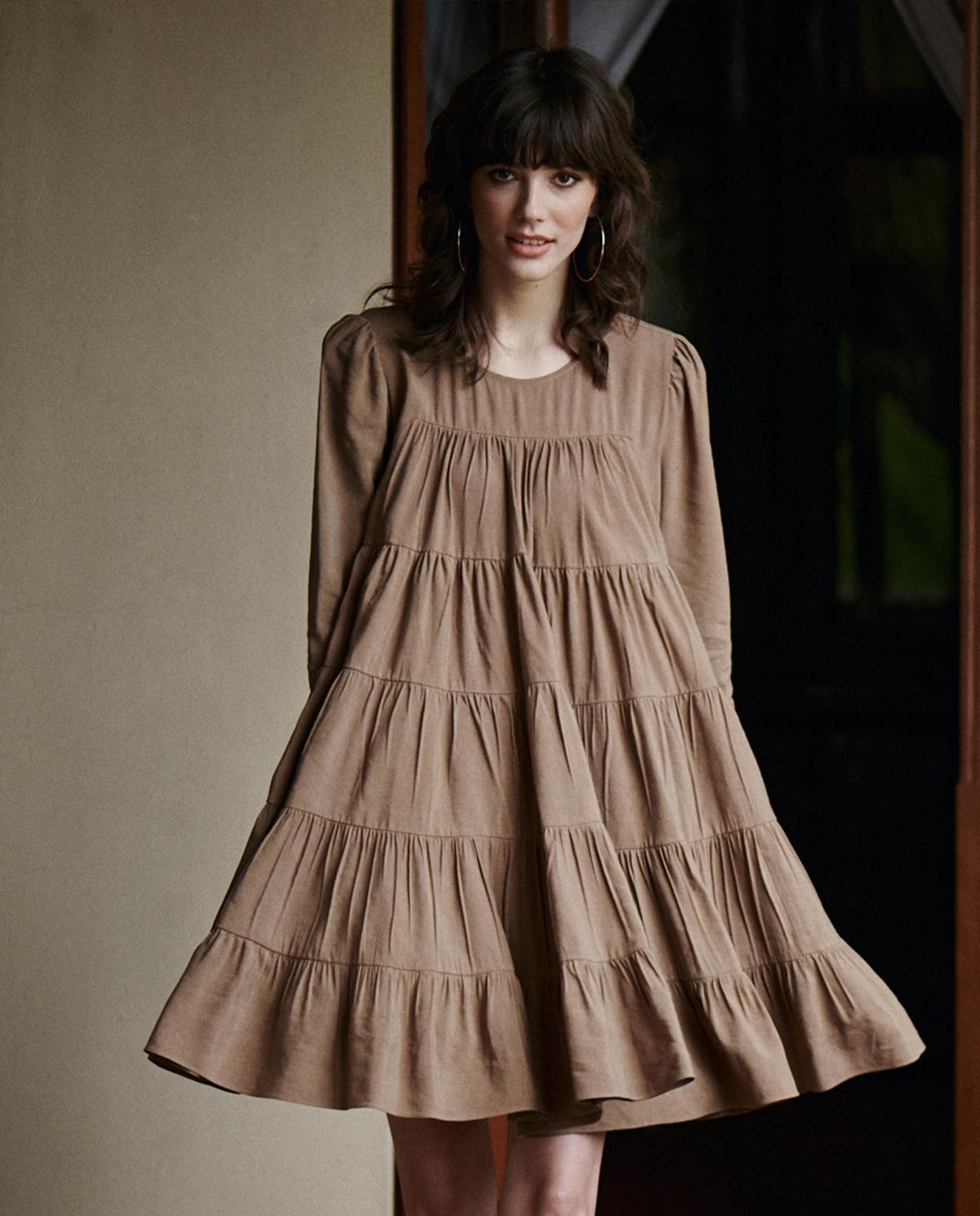 sukienka twiggy by cabo TWIGGY MOCHA