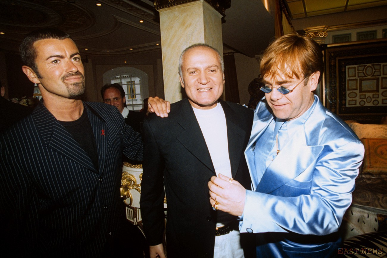 Gianni Versace, Elton John i George Michael, Getty Images