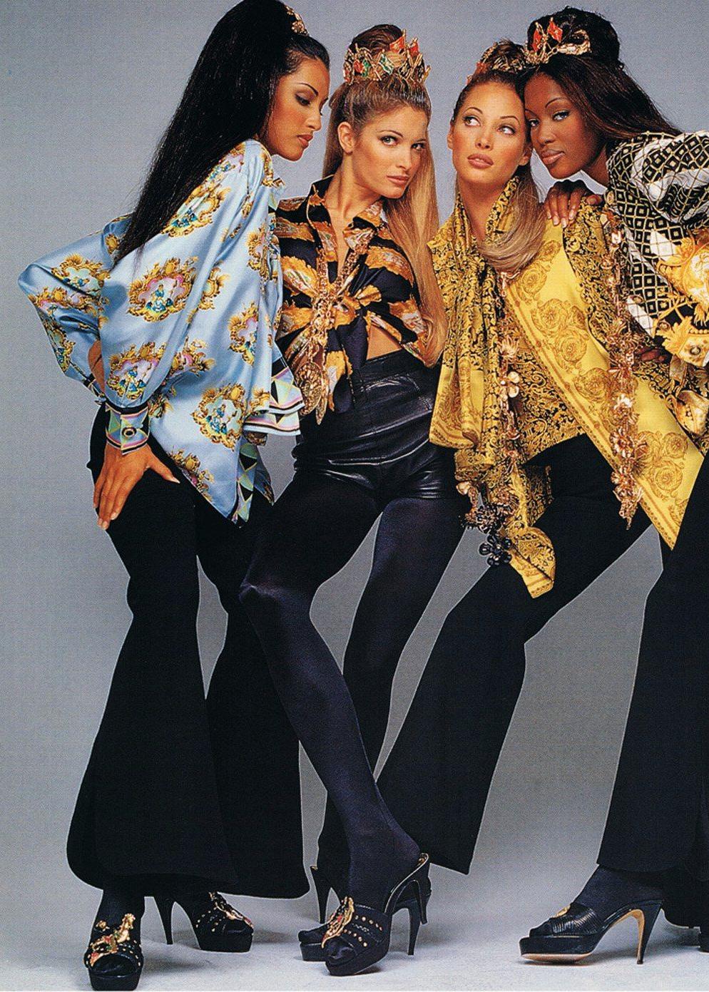 Supermodelki w kampanii Versace