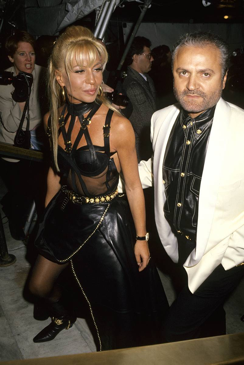 Donatella i Gianni Versace, Getty Images