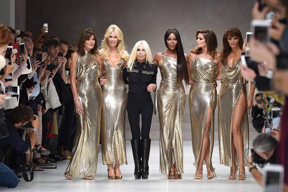 Donatella Versace z supermodelkami, Getty Images