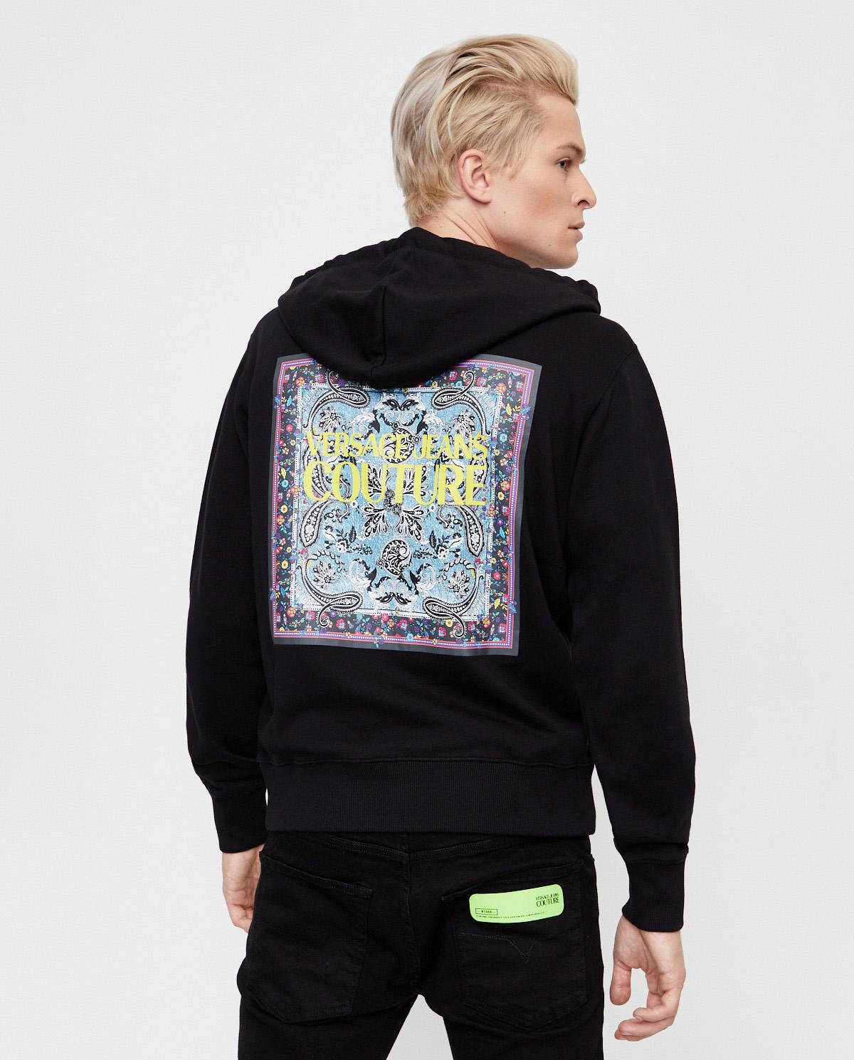 Bluza z graficznym nadrukiem na plecach Versace B7GZA7KO30328899