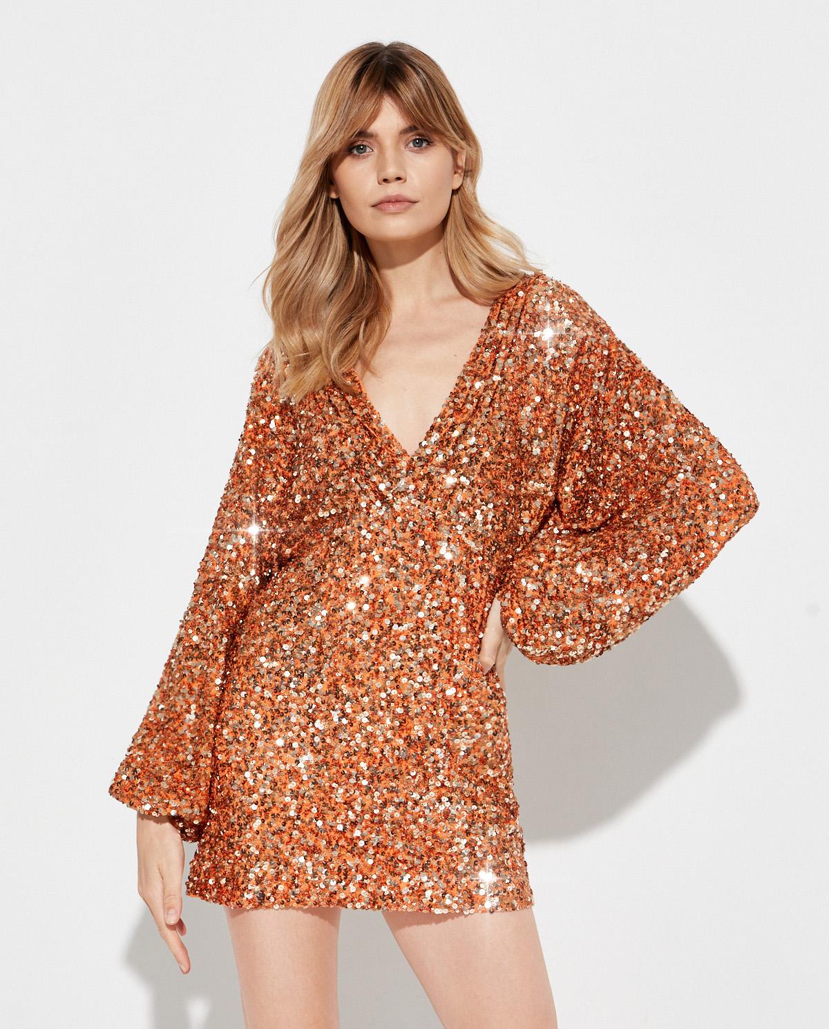 Pomarańczowa sukienka Aubrielle Retrofete SS20-2810 ORANGE