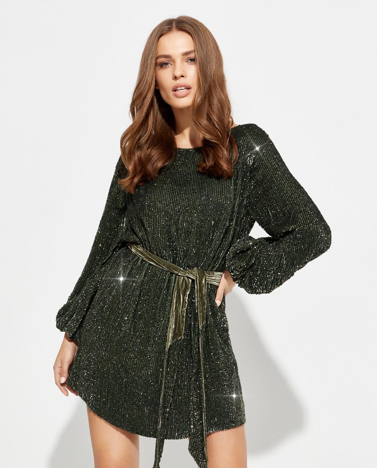 Sukienka z cekinami Grace Retrofete SS20-2721 ROSEMARY