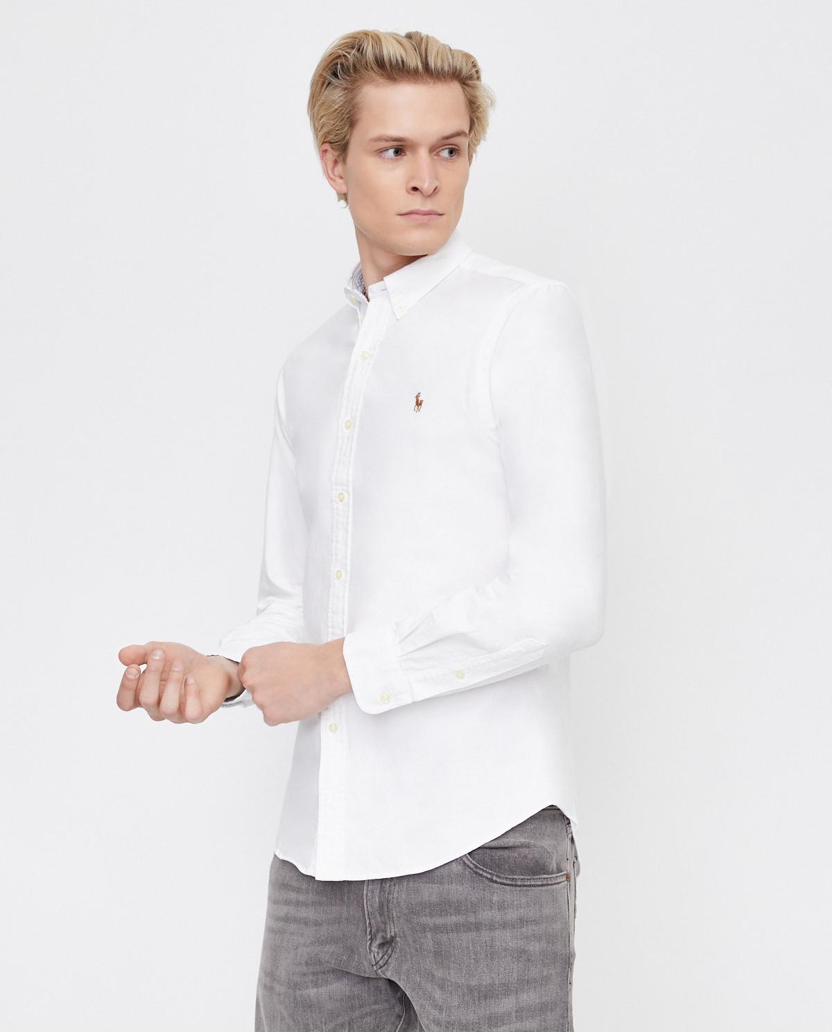 Biała koszula Oxford Slim Fit Polo Ralph Lauren 710796555002