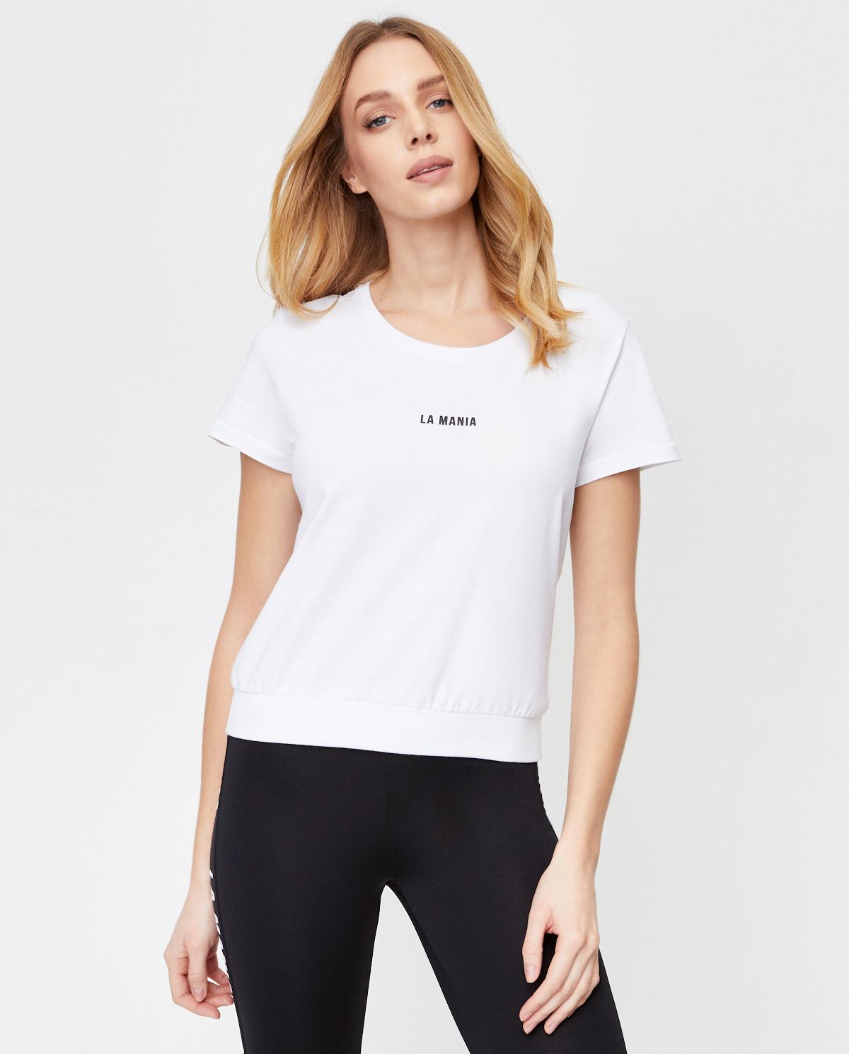 Krótki biały t-shirt Zion La Mania ZION WHITE