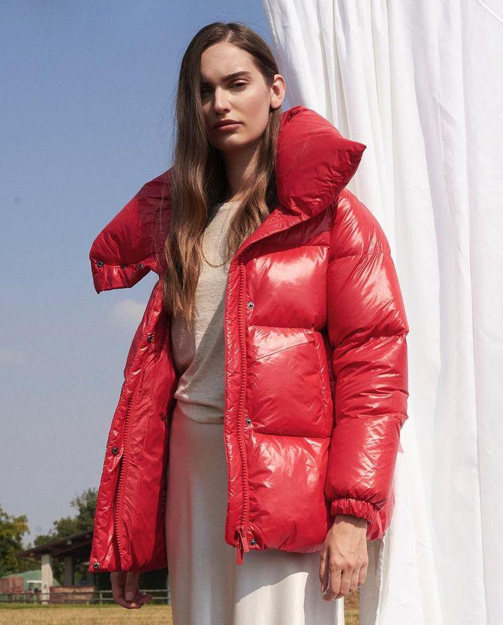 Czerwona kurtka puchowa Hetrego 8I703 RED