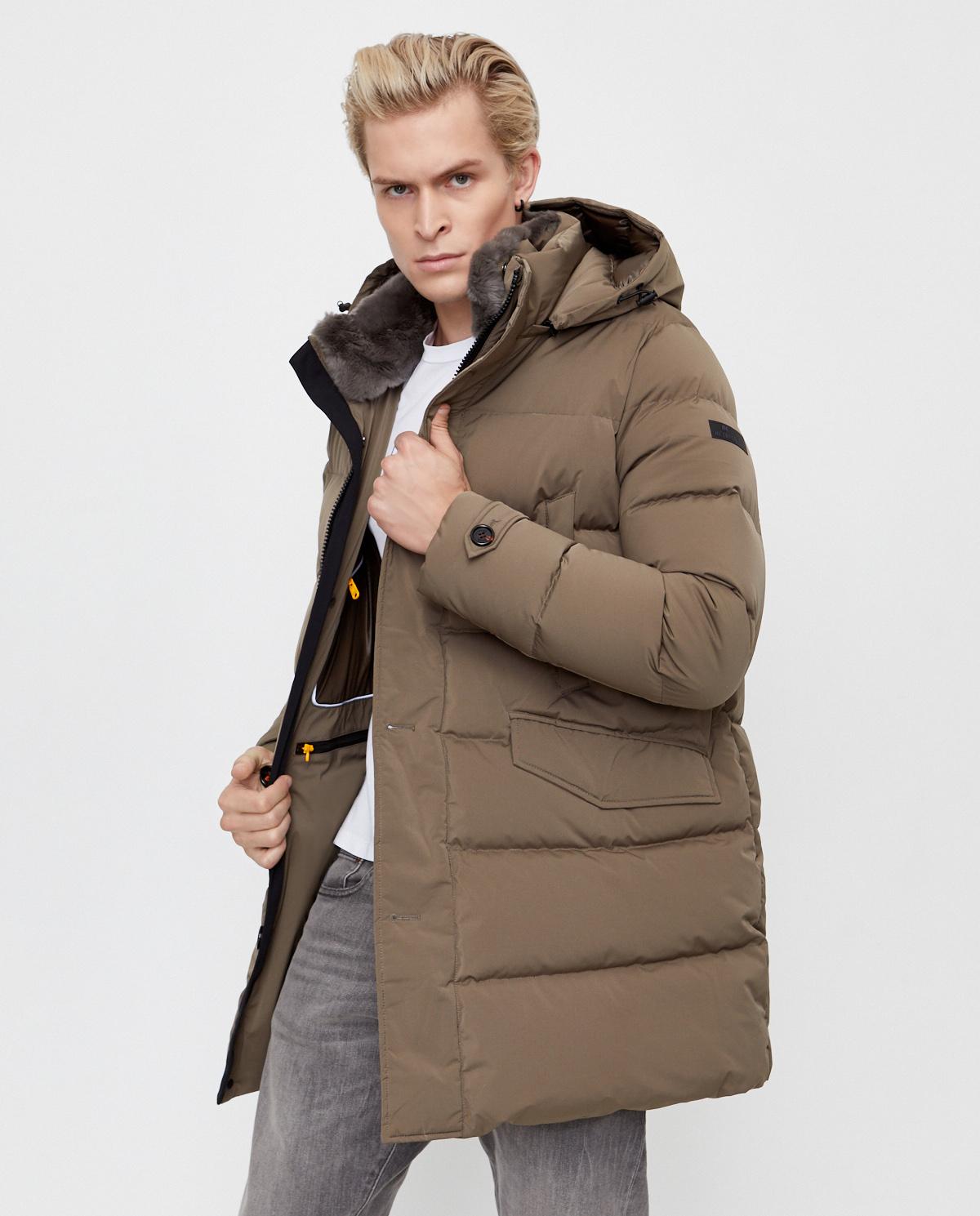 Beżowa kurtka puchowa Hetrego 8I543R KAK