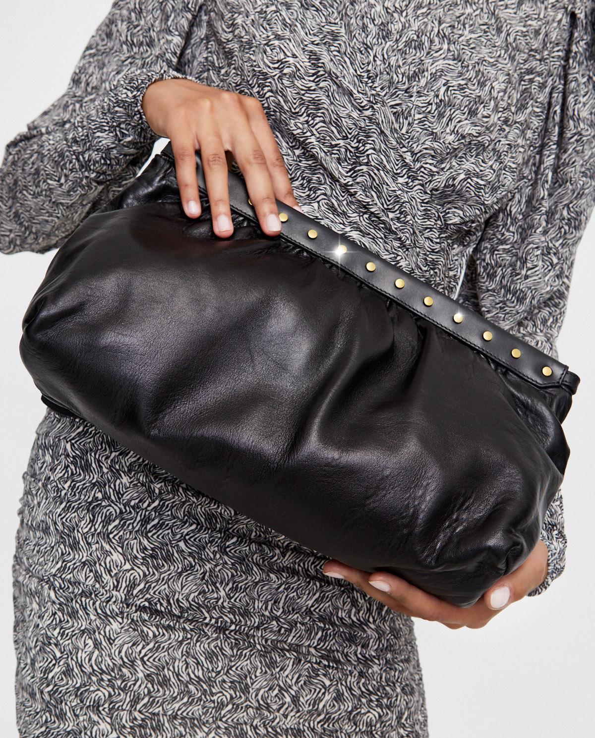 Czarna torebka do ręki Luz Isabel Marant PO0118-20A013M 01BK