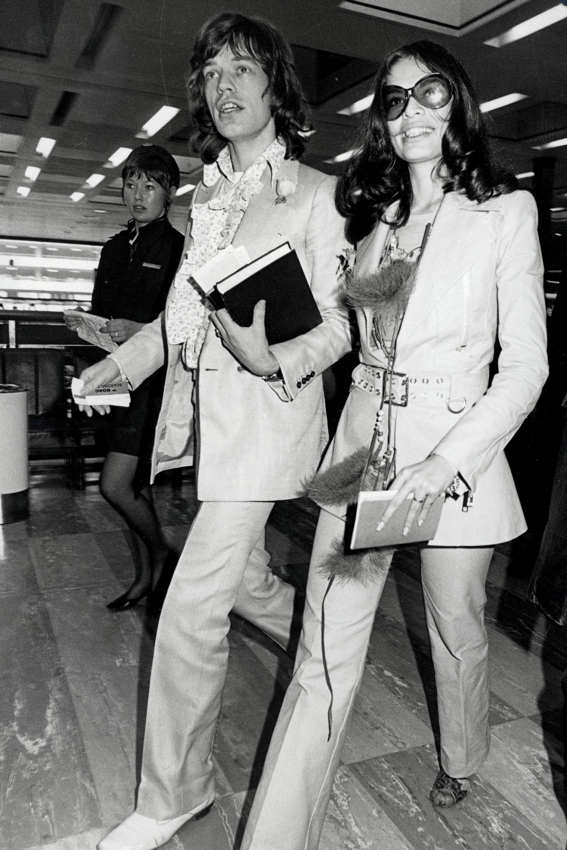 Bianca Jagger i Mick Jagger 1970