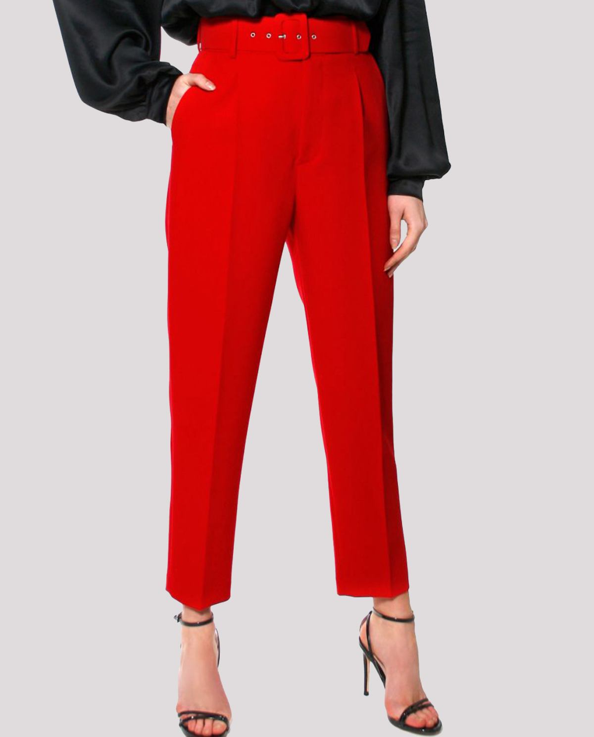 Czerwone spodnie w kant Aggi TRACEY TRUE RED