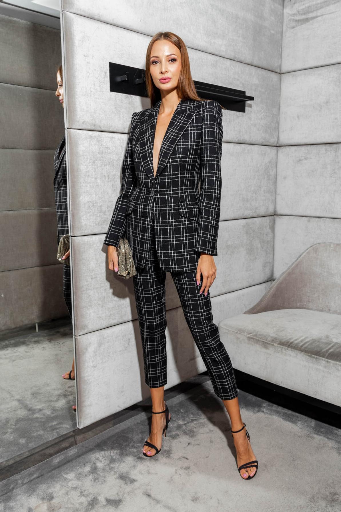 Damski garnitur w kratę Alexander McQueen