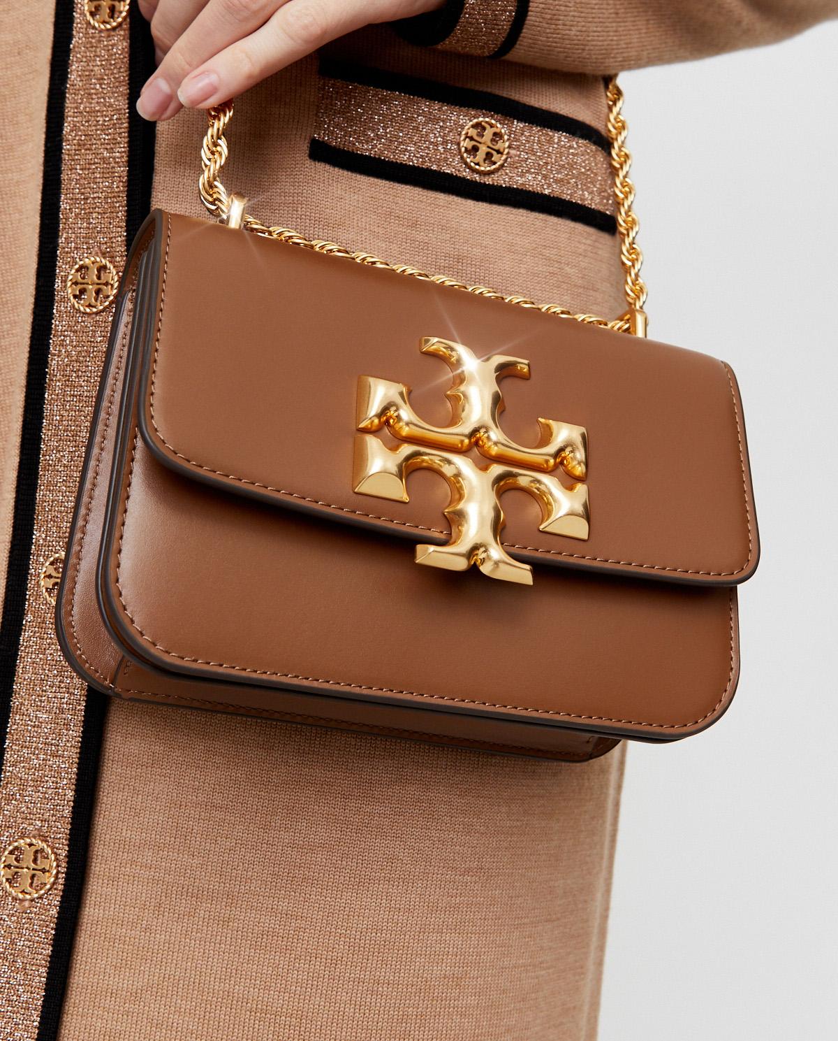 Brązowa torebka na ramię Eleanor Tory Burch 73589 909