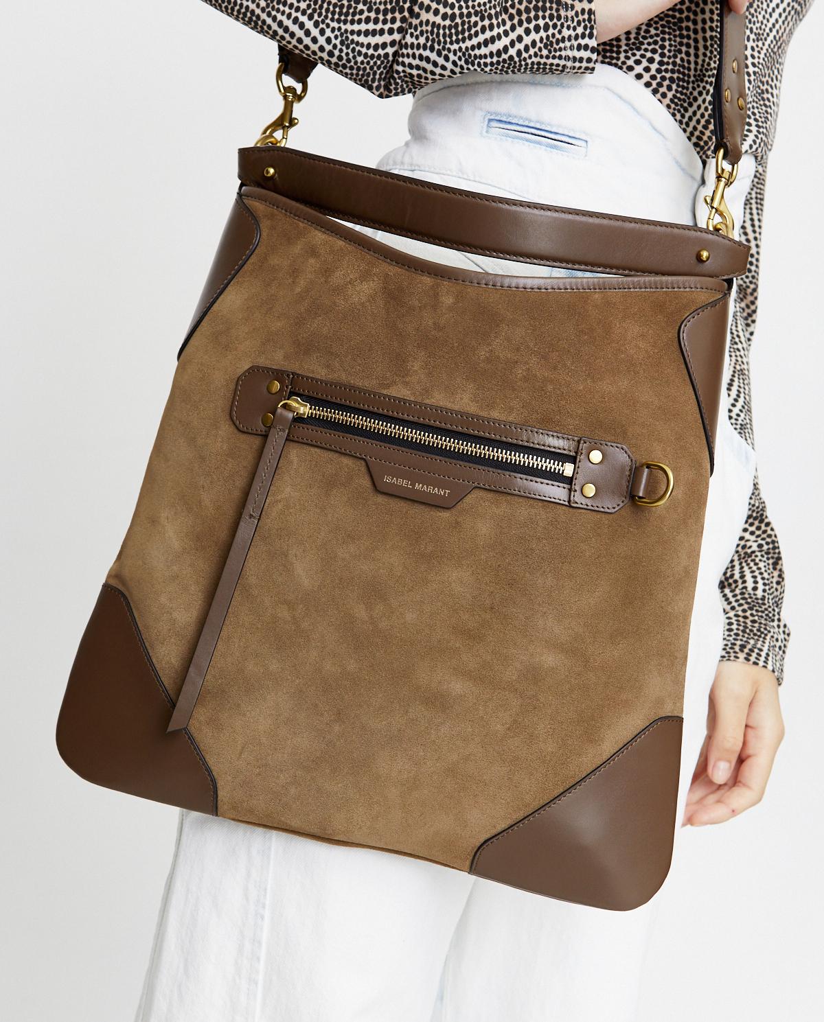 Zamszowa torebka na ramię Amuko Isabel Marant PP0480-20A012M 67KI