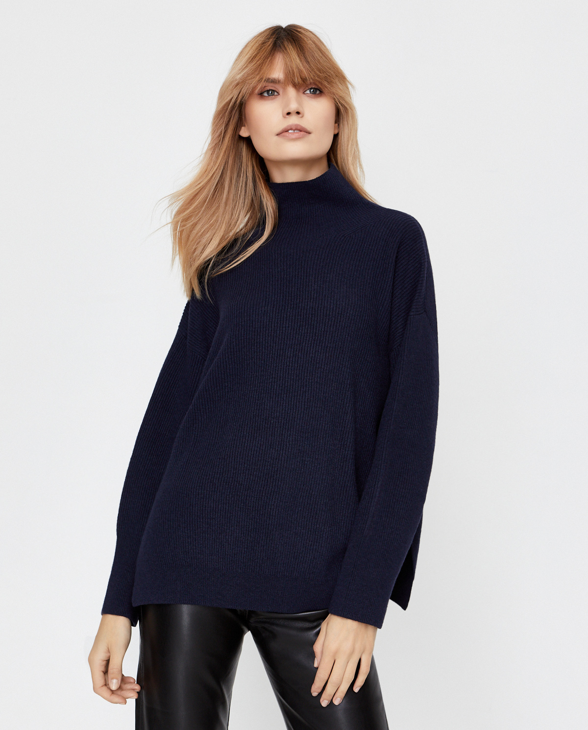 Granatowy sweter Pippa Nanushka PIPPA NAVY