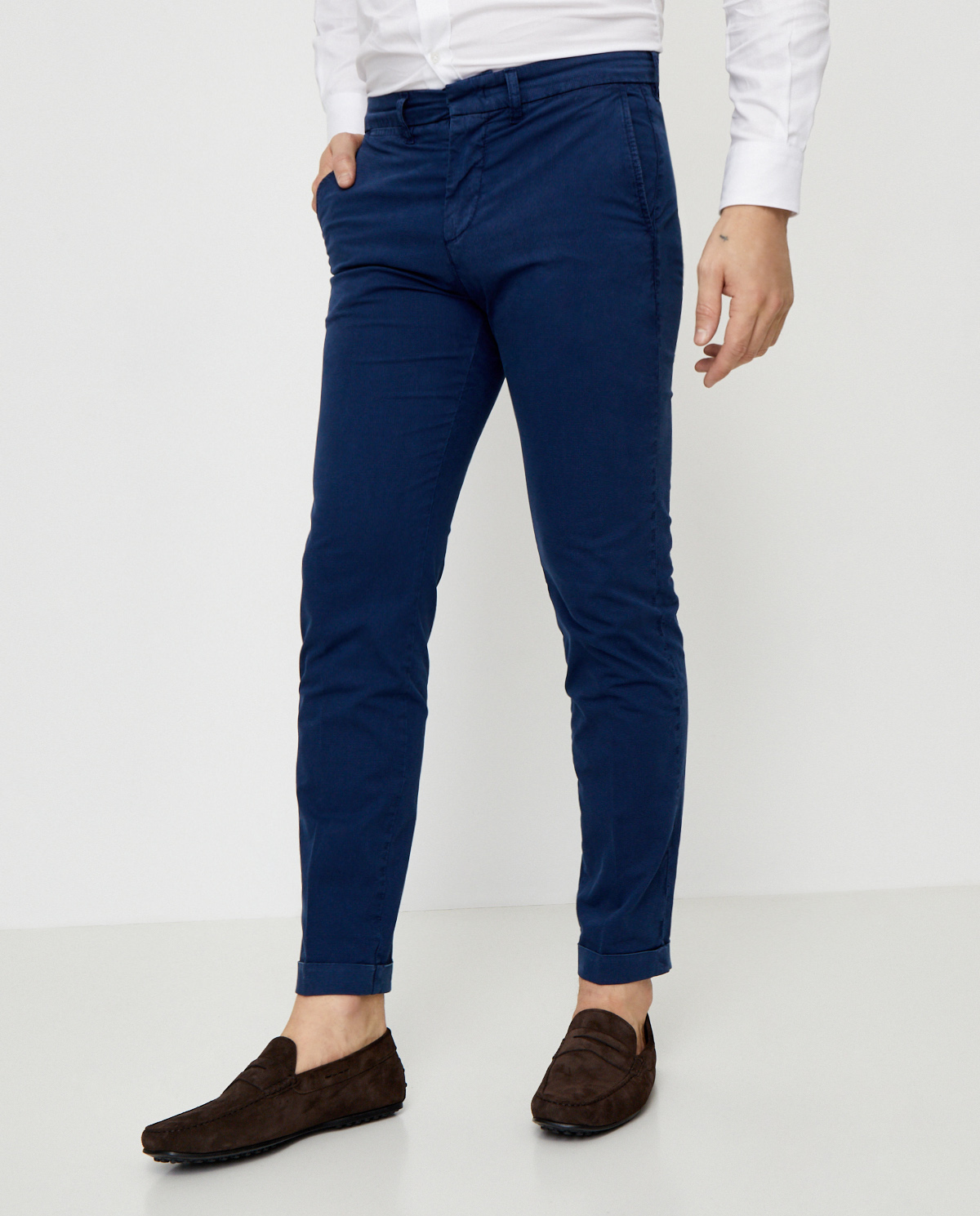 Granatowe spodnie chino Fay NTM8640189TRUJU218
