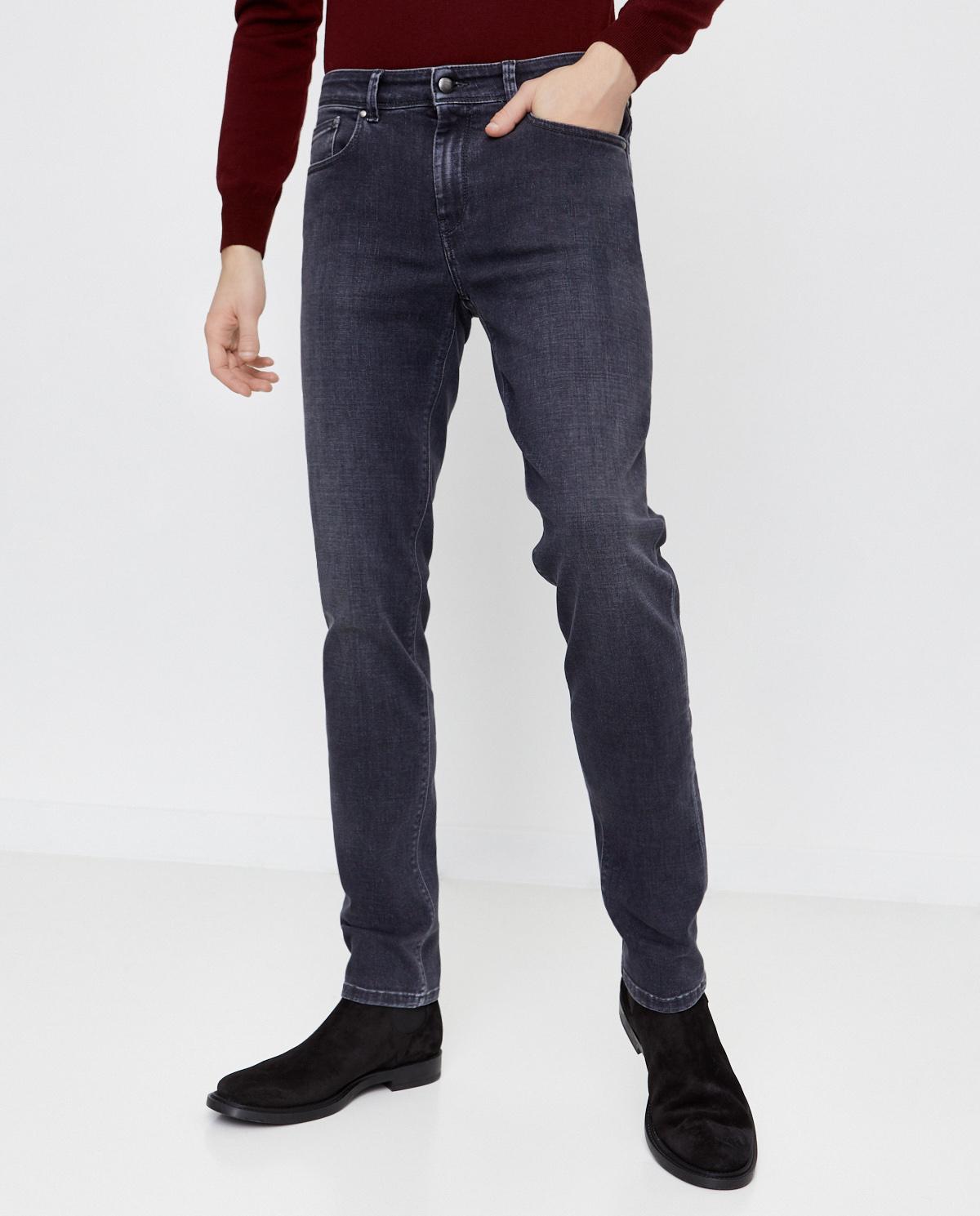 Szare jeansy ze średnim stanem Fay NTM8241197LPAFB600