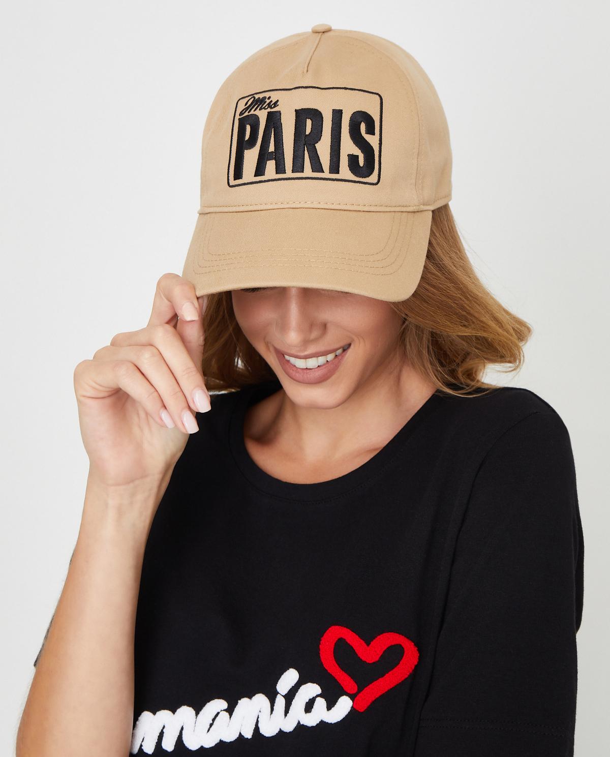 Beżowa czapka Miss Paris MISS PARIS BEIGE