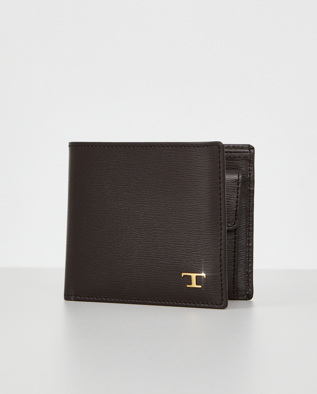 Brązowy portfel z monogramem Tod's XAMTSIBB300VIBS810